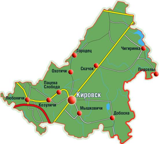 Карта кировского района