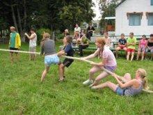 Патриотический лагерь на базе районной туристической базы